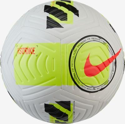 NIKE Fußball in neongelb / dunkelgrau / orangerot, Produktansicht