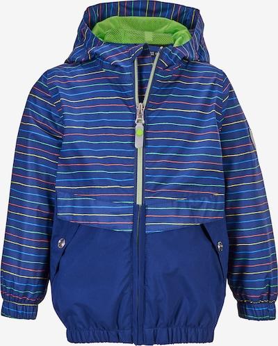 KILLTEC Outdoorjacke in blau / hellblau / gelb / hellgrün / dunkelorange, Produktansicht