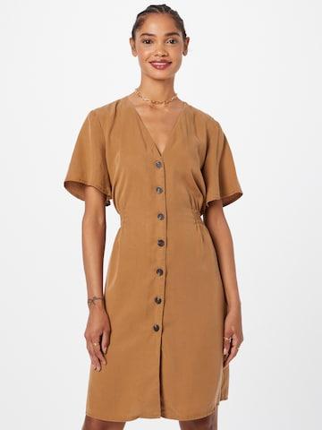 ONLY - Vestido camisero 'MAGNE' en marrón