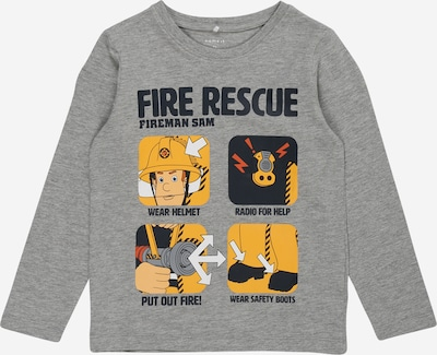 NAME IT Shirt 'FIREMANS' in navy / gelb / graumeliert / weiß, Produktansicht