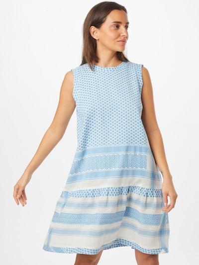 Cecilie Copenhagen Kleid in türkis / weiß, Modelansicht