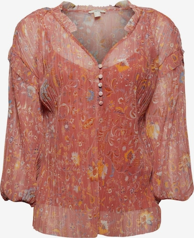 ESPRIT Bluse in de kleur Gemengde kleuren / Oudroze, Productweergave