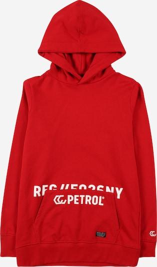 Bluză de molton Petrol Industries pe roși aprins / alb, Vizualizare produs