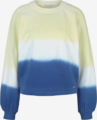 TOM TAILOR DENIM Sweatshirt in de kleur Blauw / Lichtgeel / Wit, Productweergave