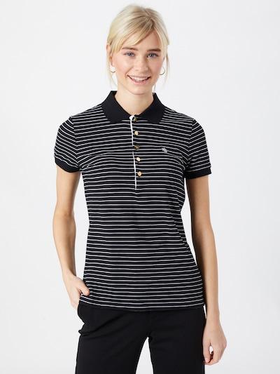 Lauren Ralph Lauren Majica u crna / bijela: Prednji pogled