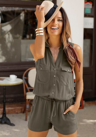 LASCANA Jumpsuit in Green