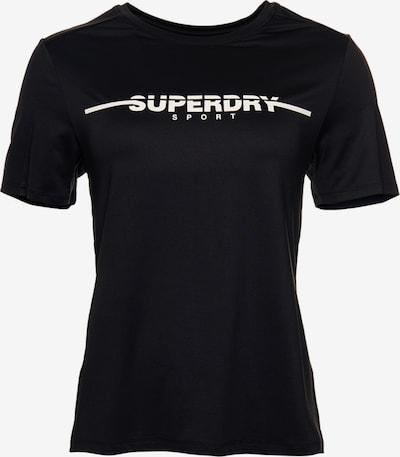 Superdry Functioneel shirt in de kleur Zwart / Wit, Productweergave