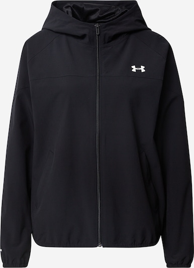 UNDER ARMOUR Sportjacke in schwarz / weiß, Produktansicht