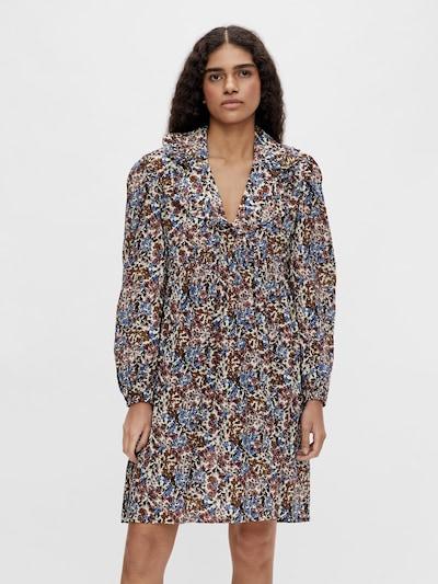 OBJECT Skjortklänning 'Penelope' i himmelsblå / honung / gammalrosa / svart / vit: Sedd framifrån