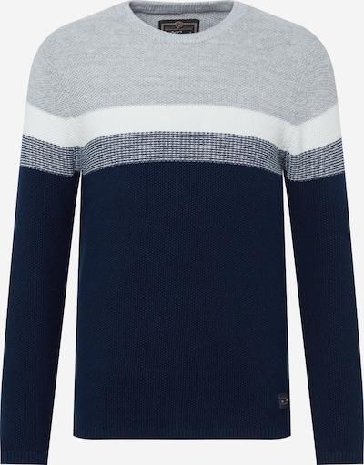 Key Largo Pullover 'HANSI' in navy / blaumeliert / grau / weiß, Produktansicht