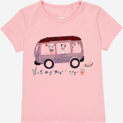 STACCATO T-Shirt in rauchblau / basaltgrau / silbergrau / rosa / burgunder, Produktansicht