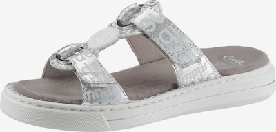 ARA Pantolette in silber / weiß, Produktansicht