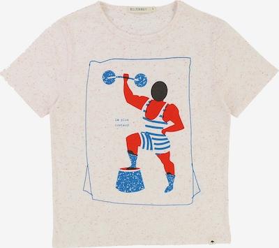 Billybandit Shirt in hellbeige / blau / neonorange, Produktansicht