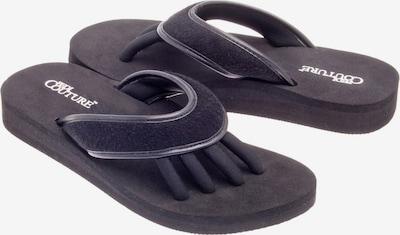 Pedi Couture Pediküre Sandale 'Black Terry' in schwarz / weiß, Produktansicht