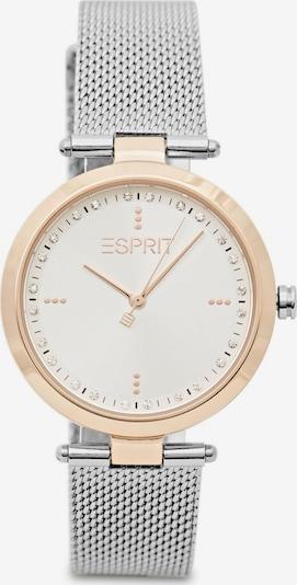 ESPRIT Uhr in rosegold / silber / weiß, Produktansicht