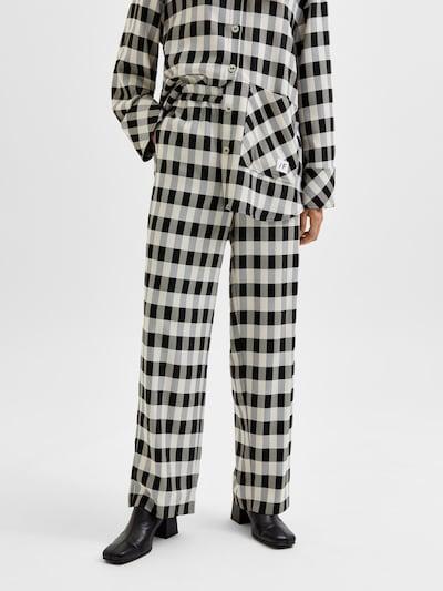 SELECTED FEMME Pants 'Kali' in Black / White, View model