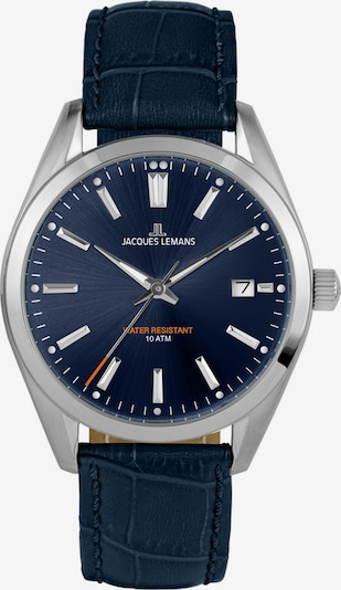 Jacques Lemans Uhr in blau / silber, Produktansicht