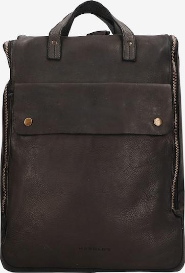 Harold's Rucksack in schwarz: Frontalansicht