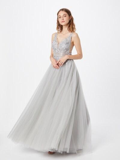 Rochie de seară LUXUAR pe gri argintiu / argintiu, Vizualizare model