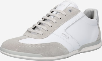 balts BOSS Casual Sporta apavi ar šņorēm 'Saturn'