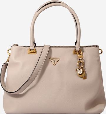GUESS Handbag 'DESTINY SOCIETY CARRYALL' in Beige