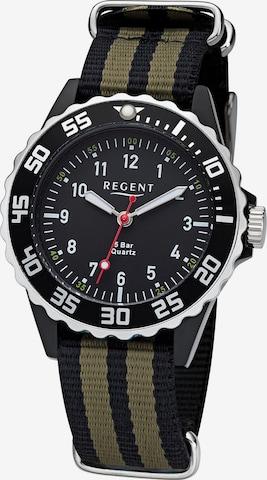 REGENT Uhr in Schwarz