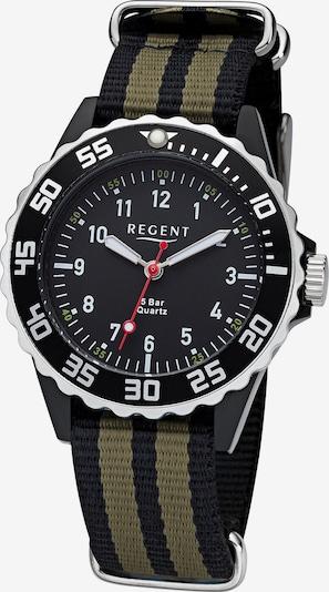 REGENT Uhr in khaki / schwarz, Produktansicht