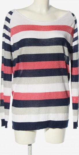 JEAN PAUL BERLIN Rundhalspullover in S in blau / pink / wollweiß, Produktansicht