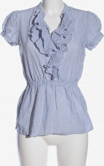 Essentials Kurzarm-Bluse in S in blau / weiß, Produktansicht