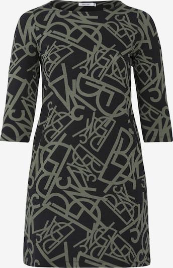 Paprika Kleid in khaki / schwarz, Produktansicht