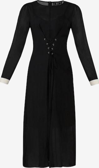 faina Kleid in gold / schwarz / weiß, Produktansicht