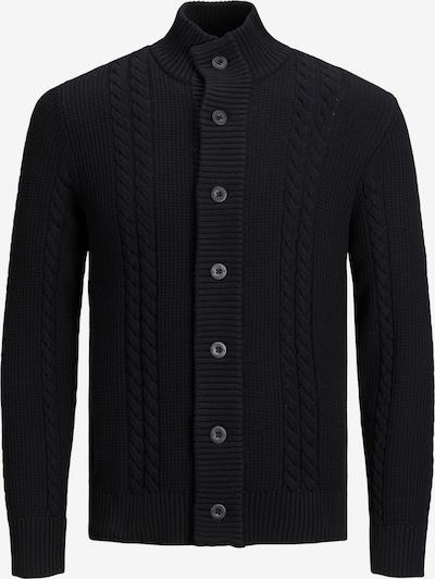 Jack & Jones Plus Strickjacke 'Memphis' in schwarz, Produktansicht