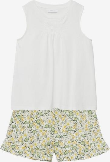 MANGO KIDS Pyjama 'Nora' in gelb / grün / weißmeliert, Produktansicht