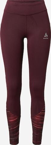 Pantaloni sport de la ODLO pe roșu