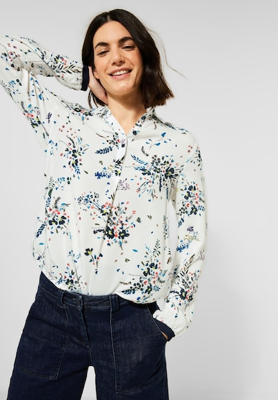 CECIL Bluse in mischfarben / weiß, Modelansicht