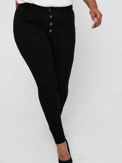 ONLY Carmakoma Jeans in de kleur Zwart, Modelweergave