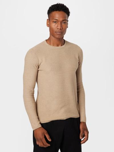 Only & Sons Пуловер 'NIKO' в светлокафяво: Изглед отпред