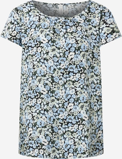 Soyaconcept Blouse 'OAKLYN 1' in Light blue / Olive / Black / White, Item view