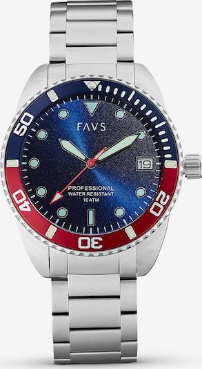 FAVS Uhr in silber, Produktansicht