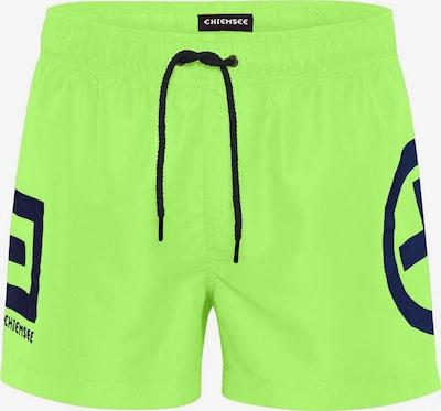 CHIEMSEE Zwemshorts in de kleur Neongroen / Zwart, Productweergave