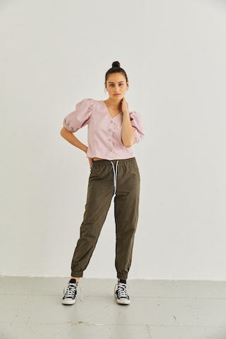 PIECES Bluse 'PCGILI SS' in Pink