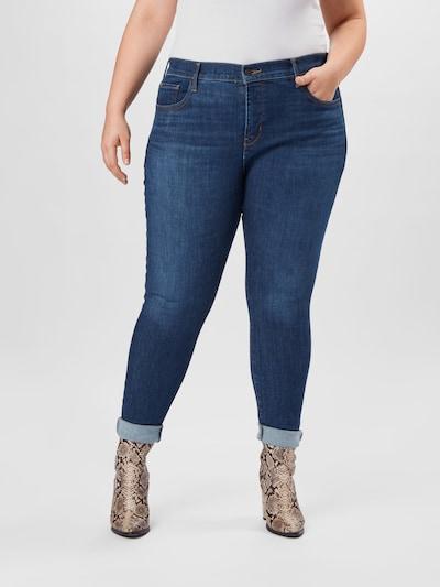 Levi's® Plus Jeans in dunkelblau, Modelansicht