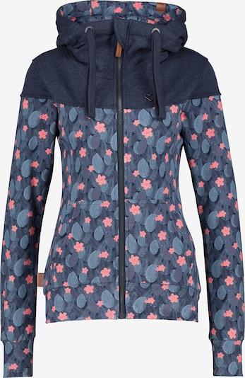 Alife and Kickin Sweatjacke 'Palina' in marine / rauchblau / rosa, Produktansicht