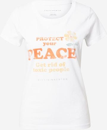 Tricou 'Peace' de la EINSTEIN & NEWTON pe alb