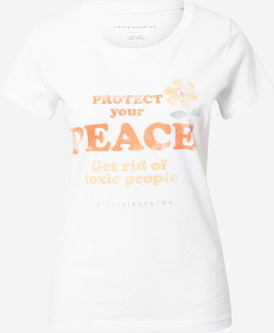 EINSTEIN & NEWTON T-Krekls 'Peace', krāsa - dūmu zils / zeltaini dzeltens / oranžs / balts, Preces skats