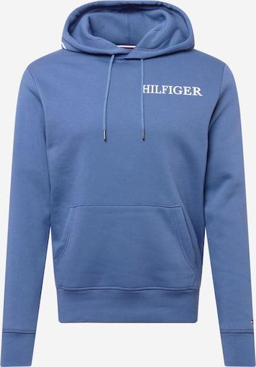 TOMMY HILFIGER Sportisks džemperis, krāsa - indigo / balts, Preces skats