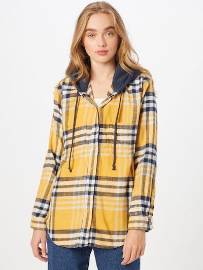 American Eagle Bluse 'PERCY' in nachtblau / gelb / weiß, Modelansicht