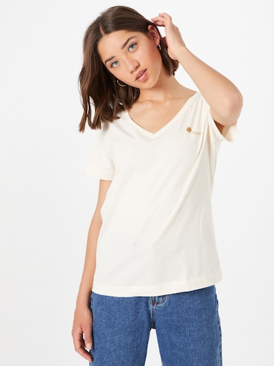 ESPRIT Shirt in Honey / Off white: Frontal view
