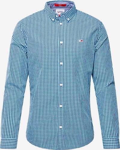 Tommy Jeans Chemise 'GINGHAM' en bleu marine / bleu clair, Vue avec produit