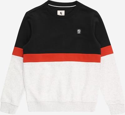 GARCIA Sweatshirt in graumeliert / rot / schwarz, Produktansicht